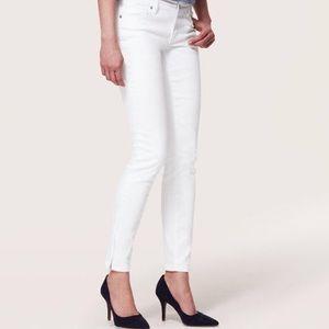 New LOFT White Modern Skinny Jeans Ankle